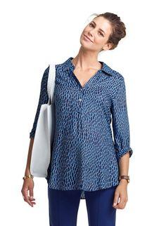 Alicia Maternity Print Shirt