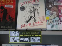 YA Graphic Novel Display at the Nederland Community Library