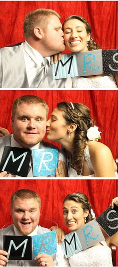 Signs are a favorite prop for fun brides.
