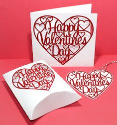 Bird's Cards:  FREE Valentine Card, Box and Tag SVG Cut File