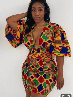 Ankara Dress/African Clothing/Dress/African Print by OmololaCollections on Etsy African Print Dresses, African Print Fashion, African Fashion Dresses, Africa Fashion, Ankara Fashion, African Prints, African Fabric, Fashion Men, Ghanaian Fashion