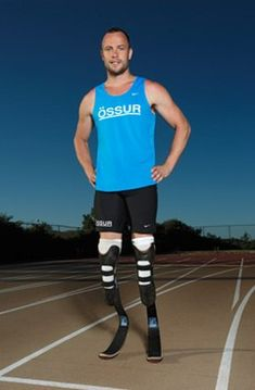 This man clearly has prosthetic legs. To many this is a disability but to this man, it is a second chance to do what he loves. Disabilities may look different but in all reality it gives people the opportunity to be different and to be loved no matter what.