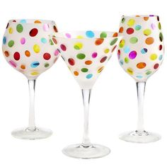 Color Dots Stemware -- every time I go into Pier 1, I almost buy these but never do. My eye is always drawn to them. I think it's time I made the plunge:)