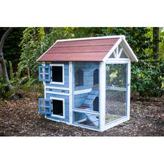 Features: -Comfortably fits 2-3 rabbits (with recommended free time). -Large dual-level rabbit hutch with multiple doors for easy access. -Made out of insect and rot-resistent cypress fir. -Does n