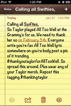 #thankingtaylor       PLEEEEEAAASEEEE POST TO ALL SOCIAL NETWORKING SITES! :) :) :) :)