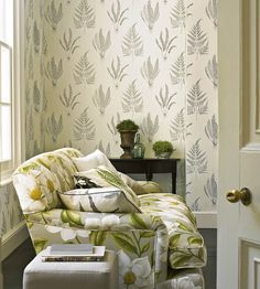 Woodland Ferns Wallpaper by Sanderson | Jane Clayton
