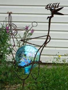 One of my yard birds made out of repurposed gardening tools:)