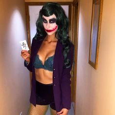 Noelle Foley looking sexy dressed as The Joker #NoelleFoley #WomenOfWrestling #TheJoker