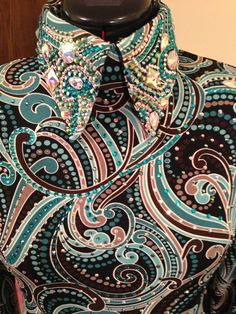 Love these colors Western Show Shirts, Western Show Clothes, Horse Show Clothes, Western Outfits, Western Wear, Western Jackets, Riding Clothes, Dance Outfits, Cool Outfits