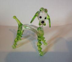 Murano Glass Poodle Dog Lampwork Vintage Miniature Long Pirelli 60's Uranium   eBay