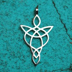 Celtic angel protection against negative influences Outside diameter of this pendant is 1 3/4 x 1 inch (45x26 mm). Thick 1mm. Made from