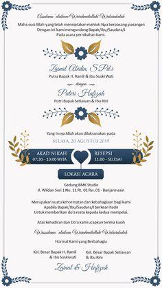 Wedding Invitation Card Wording, Muslim Wedding Invitations, Wedding Invitation Background, Creative Wedding Invitations, Invitation Card Design, Floral Invitation, Digital Invitations, Wedding List, Wedding Cards