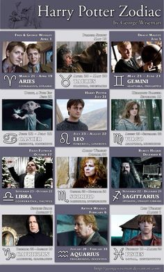 The signs as Harry Potter characters