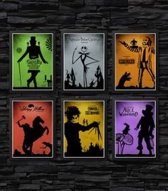 Tim Burton's Collection Movie Poster Set / Alice by onlyarts, $49.90