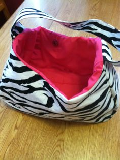 Zebra print purse. $22.00, via Etsy.