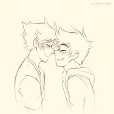 Anonymous asked you: /whispers Jake and Dirk do an Eskimo kiss  eskimo kisses are cut e