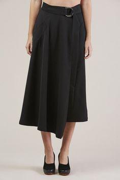 Long Skirt, Black by Veronique Leroy @ Kick Pleat