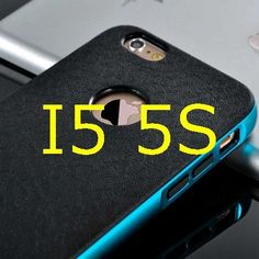 """Luxury Silicone + Hard PC Hybrid Case For Iphone 5 5S 5G & 6 6S 4.7inch & 6 6S Plus 5.5"""" Neo Metal Frame Slim Logo Armor Cover"""
