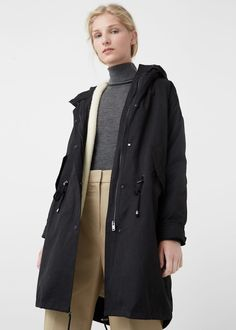 Faux shearling-lined parka -  Women | MANGO USA