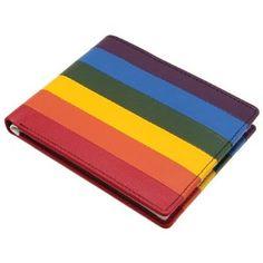 Castro Rainbow Multi-Color Leather Bifold Wallet Mustard. $28.00