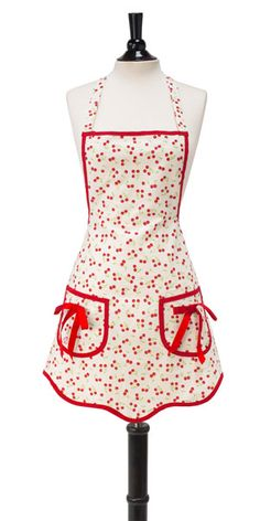 New cherry apron sewing project.