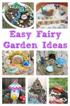 Easy Fairy Garden Ideas to Make With Kids Add some fun and magic to your garden this summer or bring the magic indoors with a fairy garden. Here are our favorite fairy garden ideas to make with kids. Kids Fairy Garden, Indoor Fairy Gardens, Fairy Garden Houses, Fairy Gardening, Container Gardening, Gardening Tips, Garden Ideas Homemade, Garden Ideas To Make, Diy For Kids
