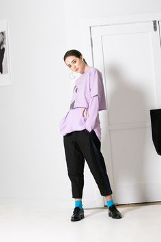 Relaxed fit, pull on trackies with front pockets in a soft linen/rayon with contrast blue/black stripe tuxedo-style stripe down side leg. Features adjustable shock cord and toggle at waist and in leg gusset panel for better fit. Linen Company, Black Linen, Black Stripes, Tuxedo, Normcore, Legs, Clothes For Women, Style, Fashion