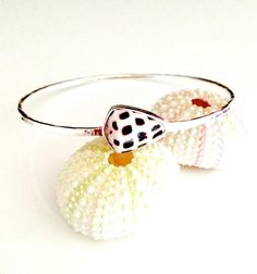 Hebrew Cone Shell Bangle Bezeled In Fine and by SeaDaisyJewelry, $60.00