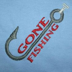 gone fishing machine embroidery design