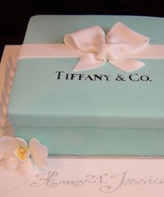 Tiffany cake for my 40th. Classy fierce and fabulous right?!