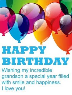 Grandson Birthday Wishes Happy Clip Quotes Poems