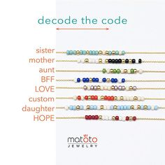Announcement: orders from will come with a printed Morse code decoding card (see picture). Gold or silver version available.Items similar to 2 Layer Custom Morse Code Alphabet Charm Bracelet, Gold / Silver, 8 Color Option, Bridesmaid Wedding Girlfriend Gi Morse Code Words, Code Morse, Jewelry Crafts, Handmade Jewelry, Jewelry Bracelets, Morse Code Bracelet, Schmuck Design, Sister Gifts, Bracelet Patterns