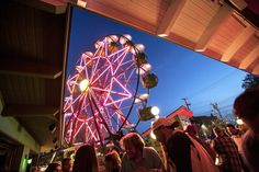 The vertically revolving patio (Ferris wheel) is a popular draw to Betty Danger's Country Club in Minneapolis. The standard Danger Experience on the wheel includes a beverage and a 20-minute rotating experience. Snacks are also available as add-ons.