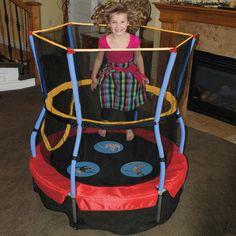 "Bouncer 48"" Trampoline Enclosure Jumper Bouncy House Kids Indoor Outdoor Jumping #Trampoline"