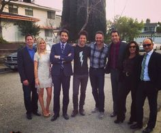 Bro Vs. Bro judges Tarek & Christina El Moussa from Flip or Flop and Hilary Farr & David Visentin from Love or List It with the Scott Brothers.