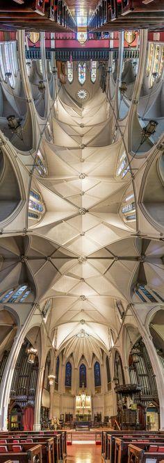 Panoramas verticais de igrejas de Nova Iorque por Richard Silver,Igreja Episcopal do Calvário. Imagem © Richard Silver Photo