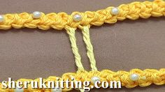 CROCHET TRICKER TWISTED BRIDE Tutorial 50 Part 2 of 9. http://sheruknitting.com/videos-about-knitting/romanian-lace-ribbons-and-cords/item/635-crochet-tricker-twisted-bride.html Brides (bars) are the narrow connections between the motifs or cords of a lace. They are made in various ways depending on the lace technique. This video demonstrates how to make the thick twisted bride stitch.