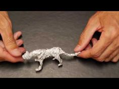 How to make a 3D cheetah with foil in a few minutes! - YouTube