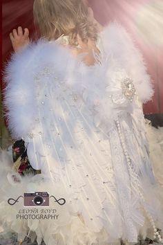 Swarovski Crystal Encrusted Feather Angel Wings – Love Baby J