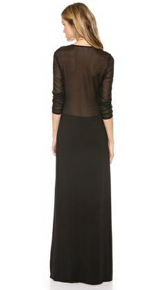 Rachel Zoe Vincent Skinny Jersey Maxi Dress