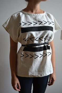 which way? / arrows blouse