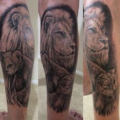 Lion and his 2 Cubs, symbolises myself and my 2 children Chloe & Adam Vassallo. Nothing is better than a Father's Love.