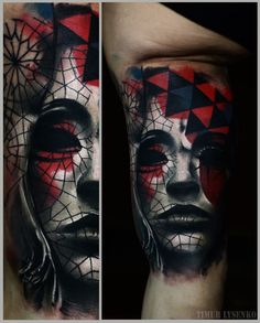 The Beautifully Dark & Graphic Portrait Tattoos Of Timur Lysenko