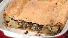 Пирог с картофелем и грибами, пошаговый рецепт с фото