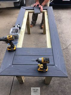 DIY Outdoor Table: What to do with leftover composite decking? - The DIY Nuts - DIY Outdoor Table: What to do with leftover composite decking? – The DIY Nuts DIY Outdoor Table: What to do with leftover composite decking? – The DIY Nuts