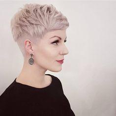 """3,828 Likes, 20 Comments - @shorthair_love on Instagram: """"@ms_mary_lou on @franzman6890 #shorthairlove #pixiecut #pixie #undercut #shorthair #hair #haircut…"""""""