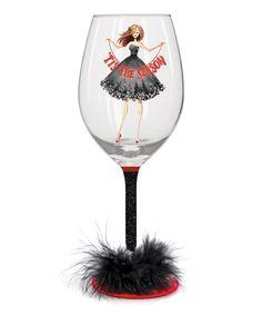Look at this #zulilyfind! 'Tis the Season' 28-Oz. Hand-Painted Wine Glass #zulilyfinds