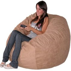 Cozy Sack 4-Feet Bean Bag Chair, Large, Medium Brown Cozy Sack $140