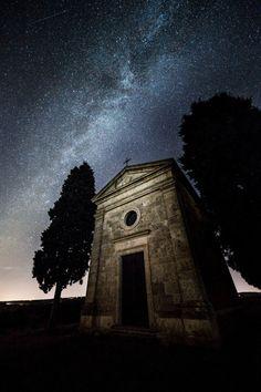 Capella della Madonna di Vitaleta -Val d'Orcia Siena Italy