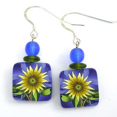 "​  All earrings are approx. .5 inches square, rectangles no more than 1'' tall. Pins are approx.    1.5 square, and no more than 2'' tall,  Barrettes are approx. 4.5"" in length."
